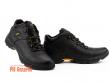 Мужские ботинки кожаные зимние черные Anser