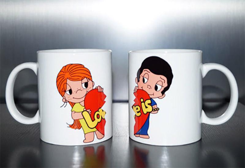 чашки с логотипами