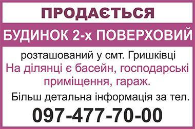 Продаж будинку в смт Гришківці