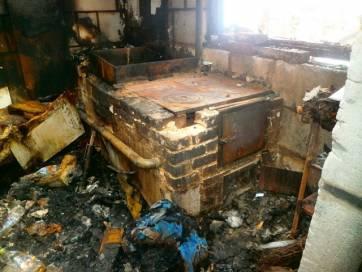 Пожежа в Гришківцях, згоріла прибудова. Фото